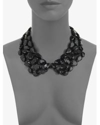 kate spade new york Black Faceted Collar Necklace