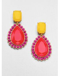 kate spade new york | Red Faceted Teardrop Earrings pink Yellow | Lyst