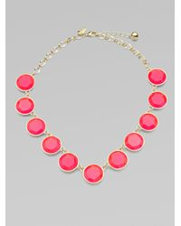kate spade new york | Pink Faceted Stone Necklace | Lyst