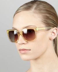 Marc By Marc Jacobs Yellow Clear Gradient Sunglasses