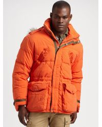 RLX Ralph Lauren | Orange Tenzing Down Parka for Men | Lyst
