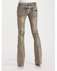 Roberto Cavalli Bootcut Metallic Jeans