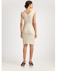Armani Natural Textured Bow Knot Dress
