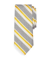 Brooks Brothers - Gray Oxford Satin Sidewheeler Tie for Men - Lyst