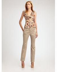 Dolce & Gabbana | Natural Anemone Silk Chiffon Blouse | Lyst