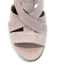 Joie Brown Royce Suede Wedge Sandalsnude