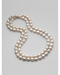 Majorica | 12mm White Baroque Pearl Necklace | Lyst