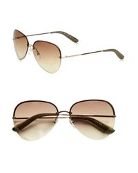 Marc By Marc Jacobs Brown Heart Etched Metal Sunglasses