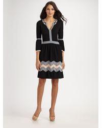 MILLY Black Belle Dress
