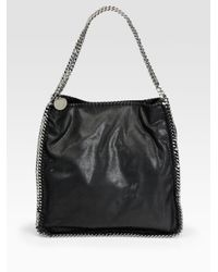 Stella McCartney - Metallic 'small Falabella' Quilted Faux Leather Tote - Lyst