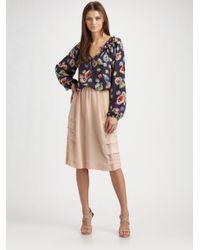 Wren Natural Tennesse Long Silk Skirt