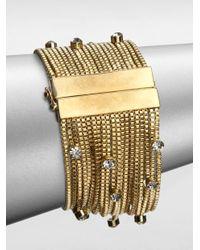 ABS By Allen Schwartz | Glass Stone Multichain Bracelet | Lyst