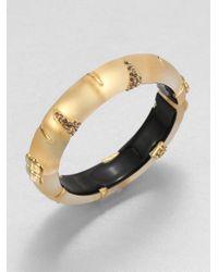 Alexis Bittar | Metallic Durban Jeweled Lucite Bangle Bracelet | Lyst