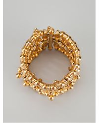 Aurelie Bidermann - Metallic Beaded Cuff - Lyst