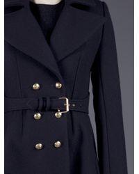 Bouchra Jarrar Blue Caban Coat