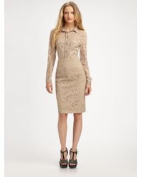 Burberry Natural Lace Pencil Skirt