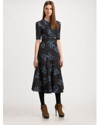 Burberry Prorsum Blue Floral Dress