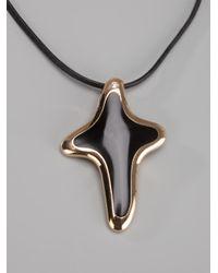 Gavello Black Crucifix Pendant Necklace for men