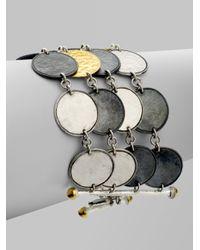 Gurhan - Black Sterling Silver 24k Gold Multistand Bracelet - Lyst