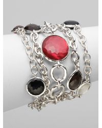 Ippolita - Multicolor Multistrand Multistone Sterling Silver Bracelet - Lyst