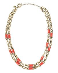 J.Crew - Red Crystal Icicle Pendant Necklace - Lyst