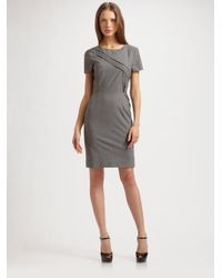 Lavia18 Gray Stretch Wool Dress
