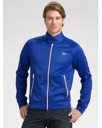 Lacoste Blue Lve Slimfit Track Jacket for men