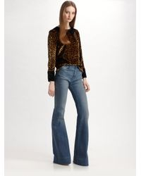 Marc By Marc Jacobs - Black Sphinx Spotted Velvet Top - Lyst