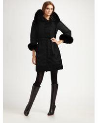 Max Mara Black Novef Reversible Hooded Puffer Coat
