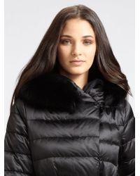 Max Mara Black Paola Fox Fur Collar