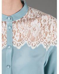 Paul & Joe Blue Lace Detail Blouse