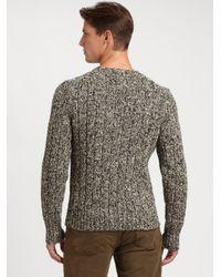 Polo Ralph Lauren Gray Ribbed Crewneck Sweater for men