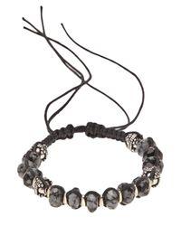 Stones Of Character - Black Spotted Onyx Bracelet for Men - Lyst