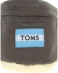 TOMS - Black Canvas Classic Espadrilles for Men - Lyst