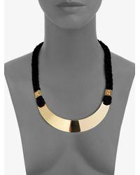 Tory Burch | Metallic 16k Goldplated Screw Rivet Rope Necklace | Lyst