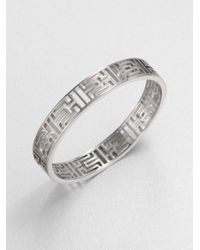 Tory Burch | Metallic Frete Skinny Bangle Bracelet | Lyst