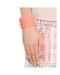 Valentino - Pink Rockstud Cuff Bracelet - Lyst
