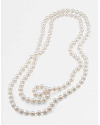 Carolee | 10mm 72 Inch White Pearl Rope Necklace | Lyst