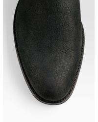 Dior Homme Black Buffalo Leather Ankle Boots for men