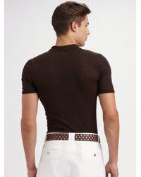 Dolce & Gabbana | Brown Henley Polo for Men | Lyst
