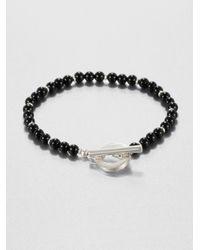 Gucci | Black Silver Onyx Bracelet | Lyst
