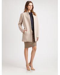 Halston Brown Wool Asymmetrical Pencil Skirt