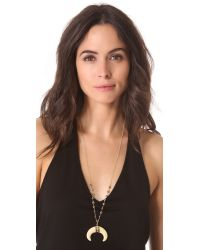 Heather Hawkins - Metallic Double Horn Goddess Necklace - Lyst