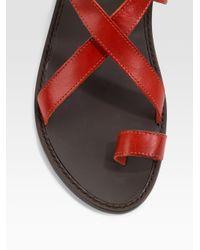 Joie Allison Road Flat Sandals Red Orange