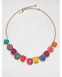 kate spade new york - Multicolor Run Around Bead Necklace - Lyst