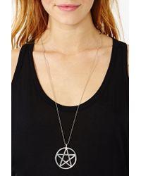 Nasty Gal - Metallic Pentagram Pendant - Lyst