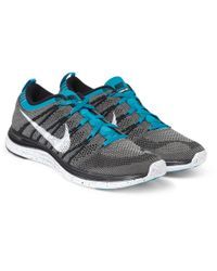 Nike - Blue Flyknit Lunar 1 Sneakers for Men - Lyst