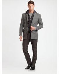 Ralph Lauren Black Label Gray Stealth Cotton Twill Cargo Pant for men