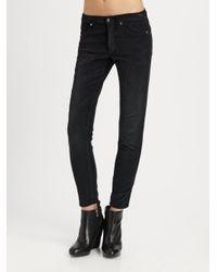 Vince | Black Vintage Corduroy Skinny Pants | Lyst