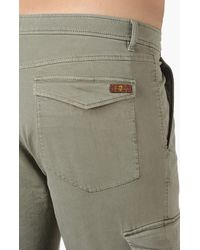 7 For All Mankind Natural Cargo Chino Satin Army for men